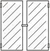 Einbausatz Flügeltür 2-geteilt rahmenlos 1170 x 480
