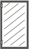 Ersatzscheiben für Glastüren ohne Rahmen 1170x480