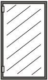 Ersatzscheiben für Glastüren ohne Rahmen 660x480