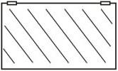 Ersatzscheiben für Glastüren ohne Rahmen 1260x550